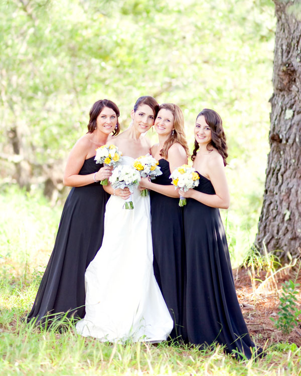 Black-bridesmaid-dresses-spicers-clovelly